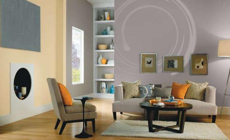 Pareti grigie per il salotto - Il colore dei muri può anche riprendere quello dei mobili per un effetto camaleontico!
