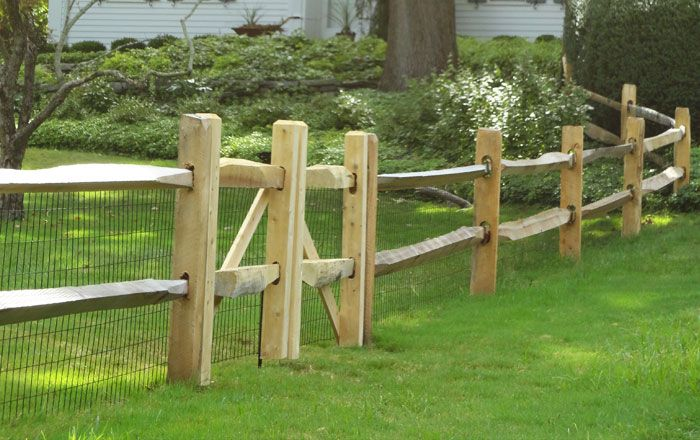 Split Rail Fence With Woven Wire 2 Homesteading