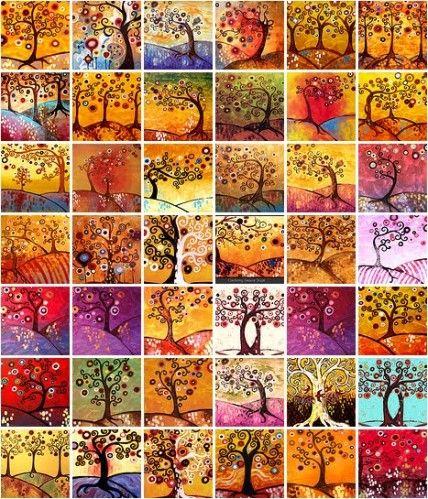 Après avoir observé quelques arbres de Natasha, nous avons essayé à notre tour de réaliser des arbres d'automne en s'inspirant de ses oeuvres. Tout d'abord, il faut faire le tronc, les branches et les racines en peinture marron. Puis, nous avons fait...
