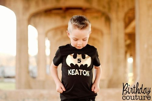 Batman Inspired Birthday Shirt - Black and Gold