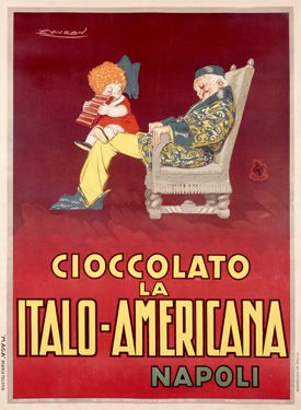 Italian chocolate poster for Italo-Americana