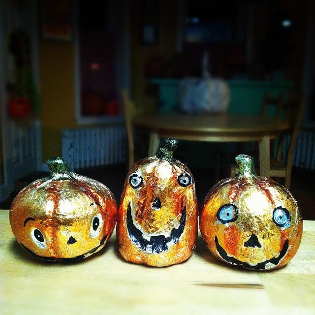 Cute golden pumpkins
