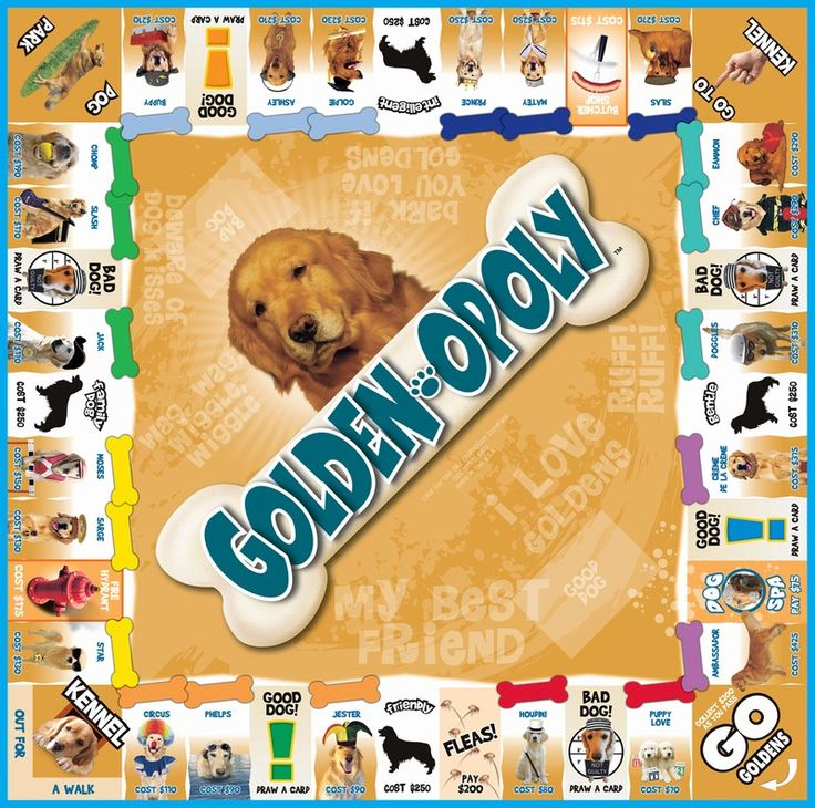 Golden Retriever Game - Golden-opoly! Who wants to play?