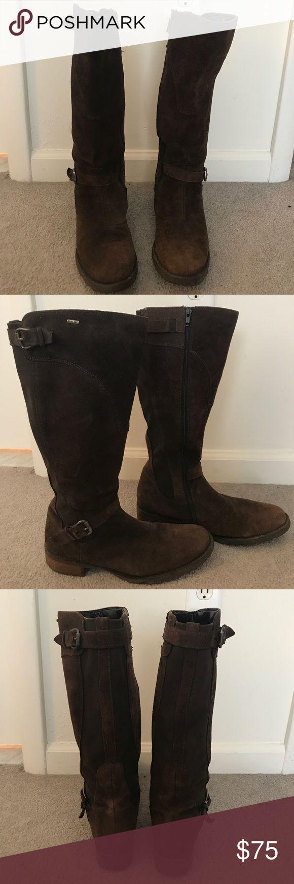 Goretex Waterproof Brown Suede Boots Lightly worn, waterproof, full zipper, very comfortable Shoes Winter & Rain Boots