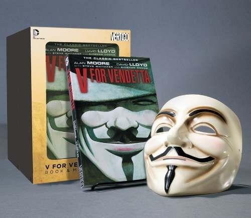 Box Hq V For Vendetta + Máscara V De Vingança Original Delux - R$ 94,99