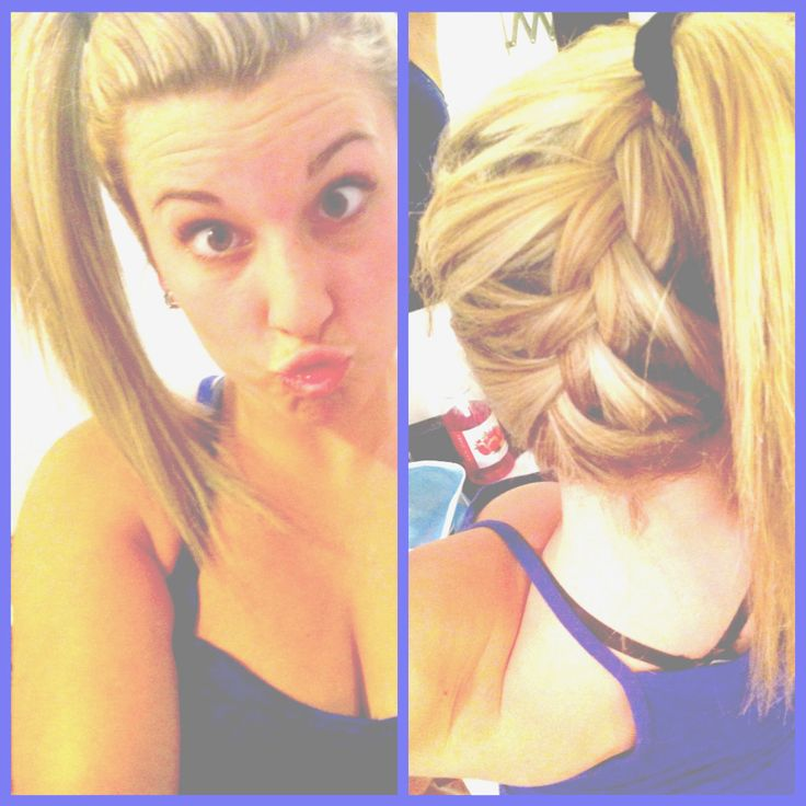 Hair - easy french braid to add something different to a ponytail