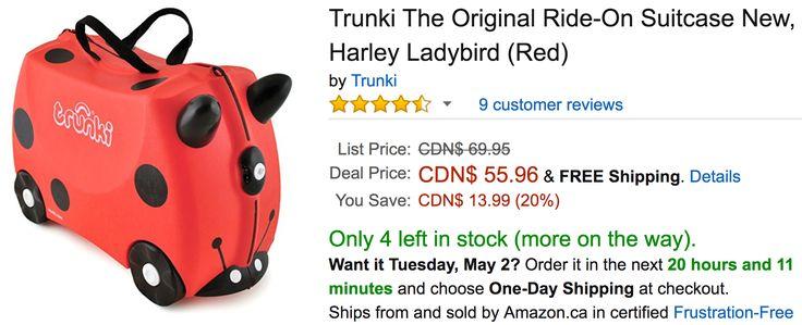 Amazon Canada Deals: Save 20% on Trunki The Original Ride-On Suitcase New Harley Ladybird 59% on ALEX Toys  Fr... http://www.lavahotdeals.com/ca/cheap/amazon-canada-deals-save-20-trunki-original-ride/195881?utm_source=pinterest&utm_medium=rss&utm_campaign=at_lavahotdeals