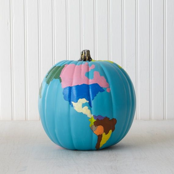 Get the Whole World in On Your Pumpkin Painting Fun: