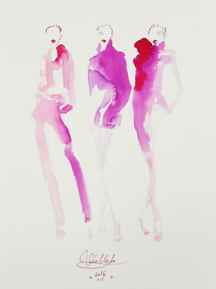 fashion illustration by Wioleta Bąbol