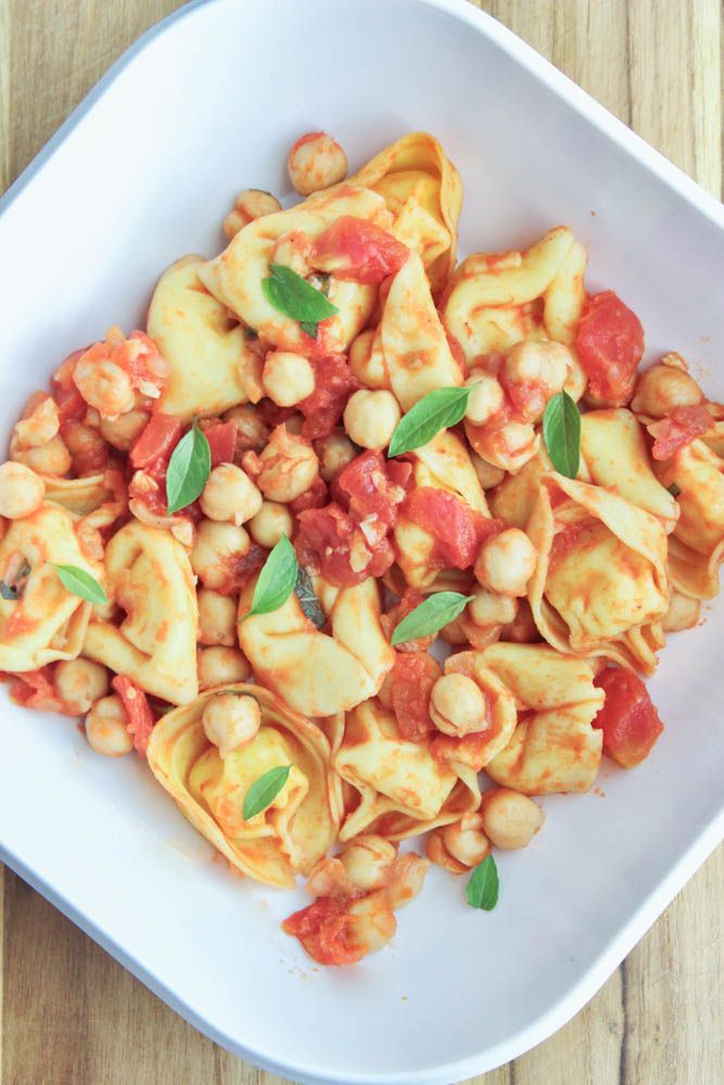 Cheese Tortellini In A Chickpea Red Sauce Recipe Nutrition Healthy Eating Cheese Tortellini Family Nutrition