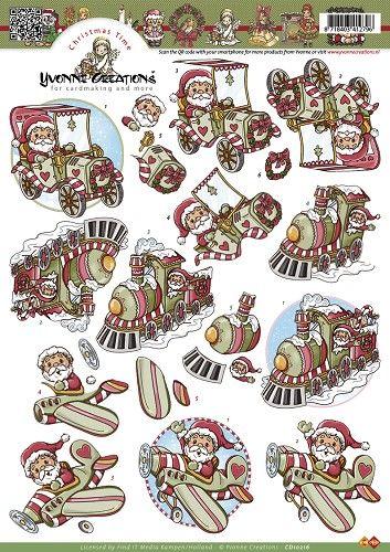 Knutselkraam.nl | 3D A4 Knipvel Yvonne Creations - kerstman CD10216