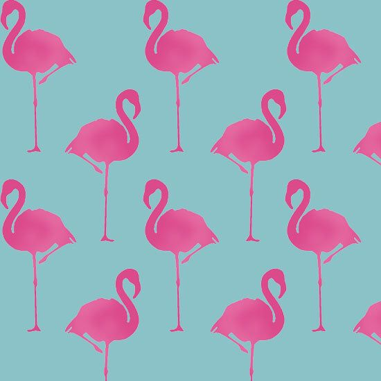 Flamingo stencil, Flamingo art decor, animal stencil, animal décor, painting stencil, wall stencil, paint flamingo wallpaper, ideal stencils by IdealStencils on Etsy https://www.etsy.com/listing/226906529/flamingo-stencil-flamingo-art-decor
