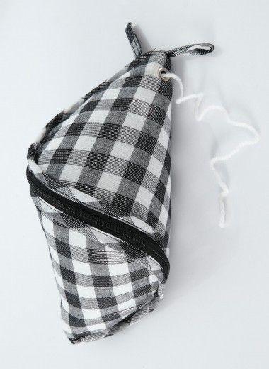 Sy en egen sån här! Rutig väska för garnnystan.