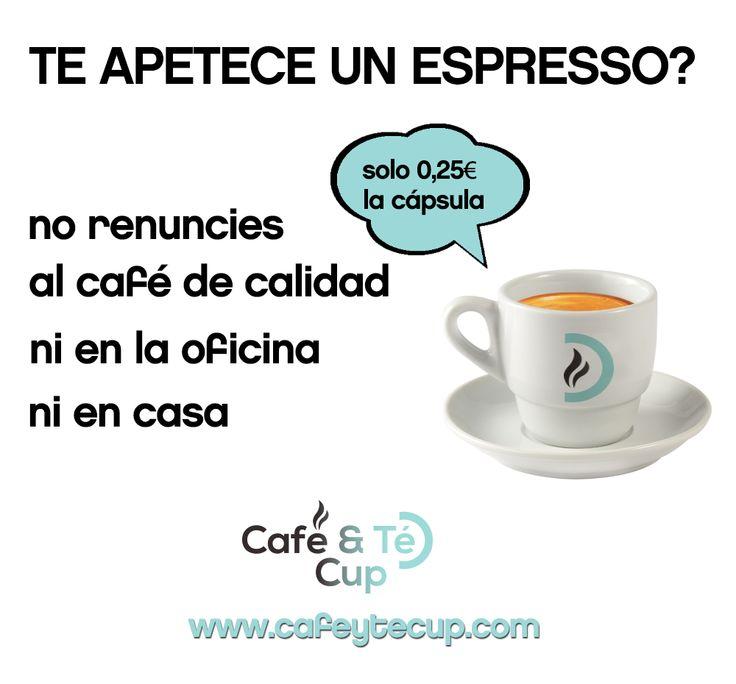 ¿Te apetece un espresso? Prueba nuestras cápsulas de #cafe para #nespresso