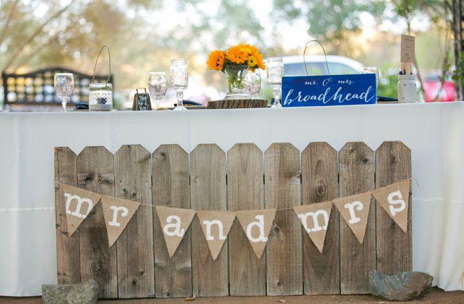 素朴な結婚式のレセプション
