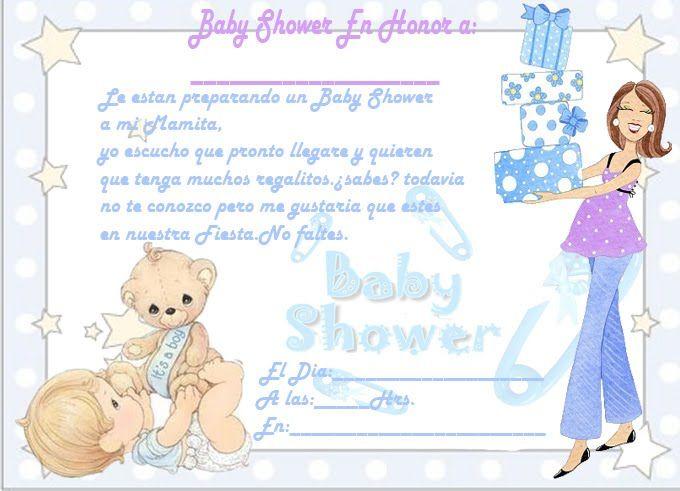 Invitaciones para imprimir de baby shower nocturnar - Organizar baby shower nino ...
