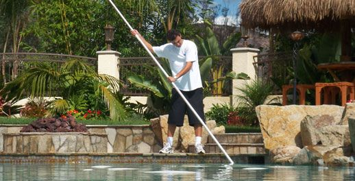 The pool cleaning service guy