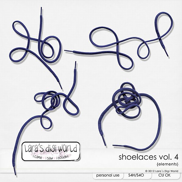 Shoelaces Vol. 4 by Laras Digi World Get them FREE - purchase $5 or more, only by Thursday!