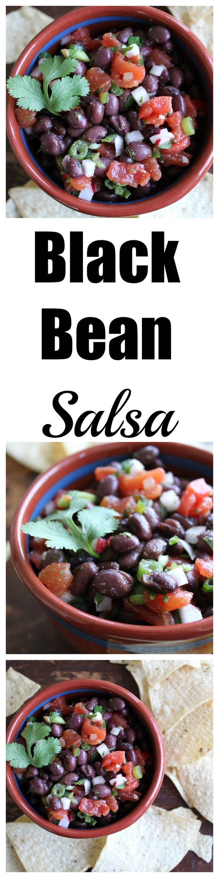 This Healthy Black Bean Salsa has an unexpected spicy crunch! {Brittany's Pantry}