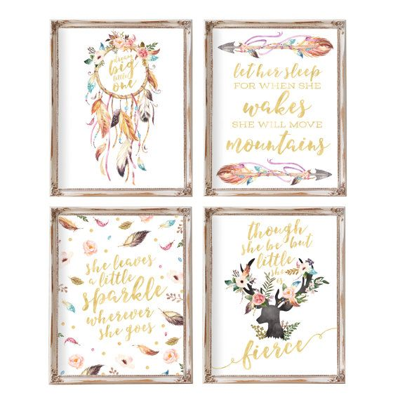 Nursery Wall Decor Set : Best girl nursery art ideas on