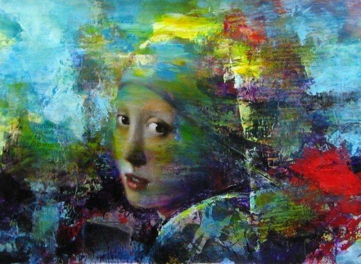 Schilderij meisje met de parel kunst collectie kunst express schilderij pinterest - Schilderij voor meisje slaapkamer ...