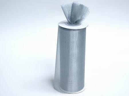 Shimmering Tulle Bulk Roll - Silver