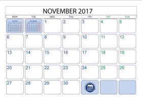 Best November  Calendar Images On   Monthly