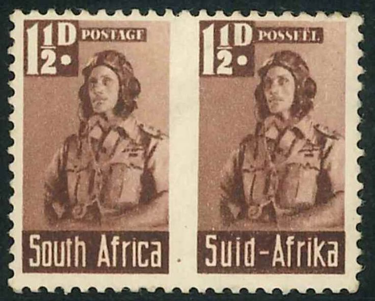 1942 South Africa war effort stamp - Airman