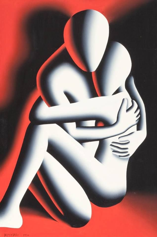 """The Embrace"" ___Mark Kostabi."