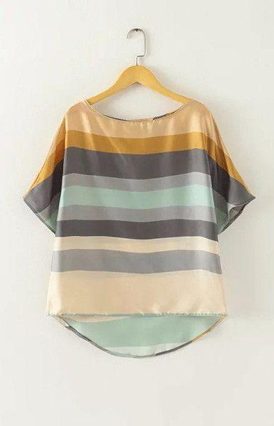 Color Stripes Blouse – Trendy Road