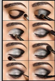 Gun Metal Smokey Eye ~ Recreate using Mary Kay AtPlay Baked Eye Trio in Tuxedo. SHOP: www.marykay.com/vcarretta
