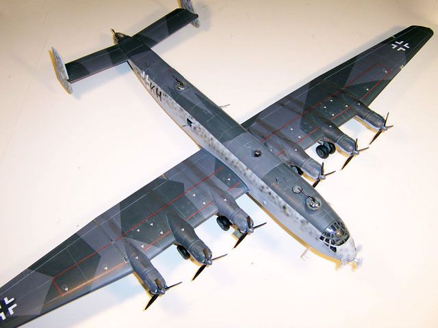 The model of Junkers Ju 390 by Mike Knowles
