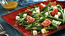 Sałatka z fasolki szparagowej i fety #przepis #lidl #salatka #fasolka #feta