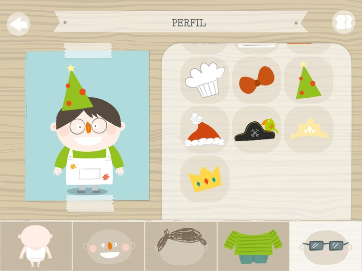 Crea tu perfil de usuario y ponle los accesorios más divertidos.