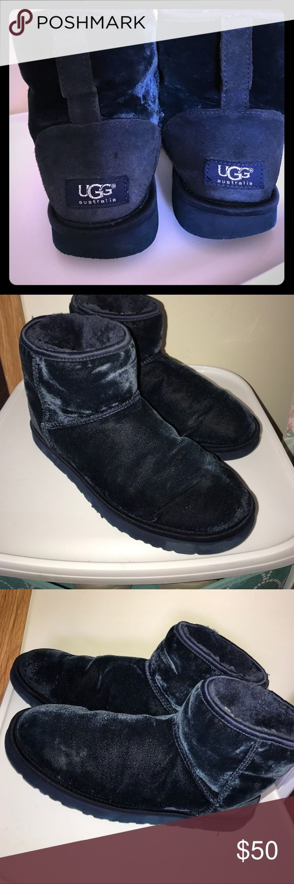 UGG Australia 1003633 Short Velvet Sheepskin Boots Good used condition. No stains or defects just wear on bottom which is normal UGG Shoes Ankle Boots & Booties