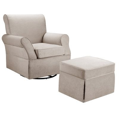 Baby Relax Baby Relax Kelcie Swivel Glider Chair and Ottoman | AllModern