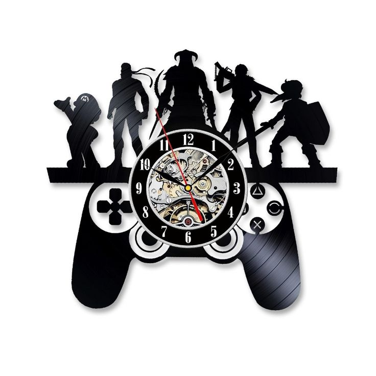 Playstation Game Characters Theme Vinyl Record Wall Clock Christmas Gift
