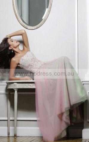 Princess Strapless Natural Sleeveless Floor-length Formal Dresses p140875