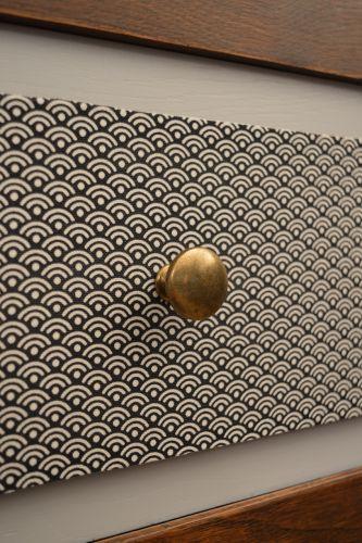 Tiroir en tissu graphique