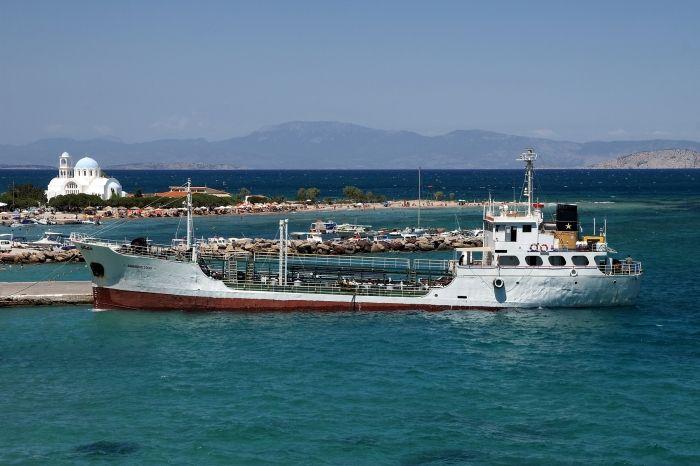 View of Skala port