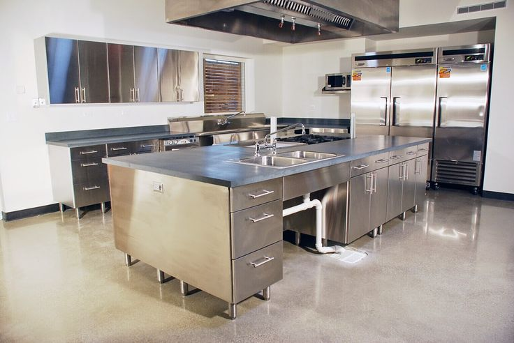 stainless steel kitchen table to a modern kitchen with stainless steel
