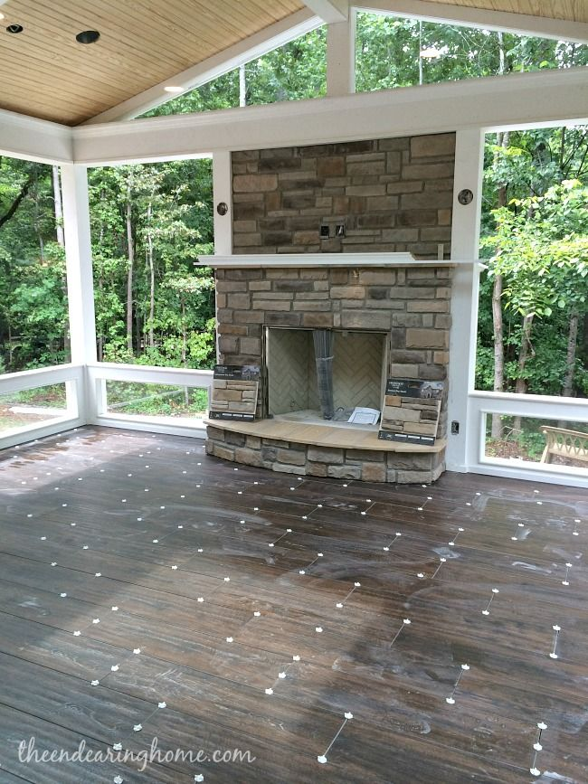 Back Porch Project - The Endearing Home This look like it will just beautiful when completed!