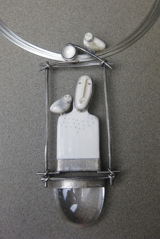 Figure Necklace-- Carolyn Morris Bach