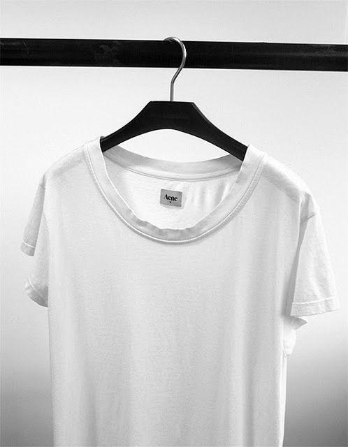 Acne White Tee Acne Studios, Acne, fashion, clothing, minimal, minimalist, outfit| @andwhatelse