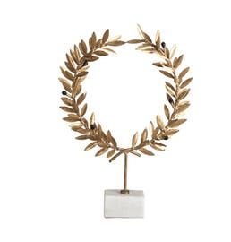 Kotinos Wreath On Stand  Contemporary, Transitional, Art Deco, Traditional, Metal, Stone, Decorative Object by Bliss Studio