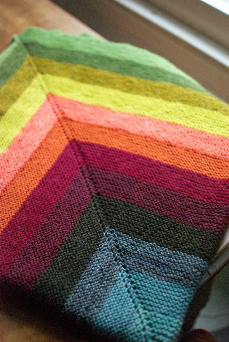 Through the Loops!: The Gigantic Garter Blob - knitting Blanket