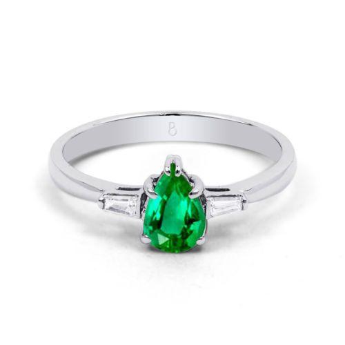 Esmeralda & Diamante 18Karat Oro Blanco