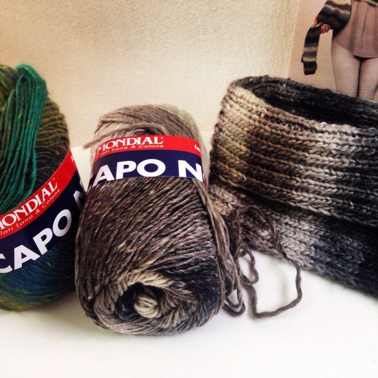 Cuello tejido a dos agujas con lana CAPPO NORT de Lane Mondial