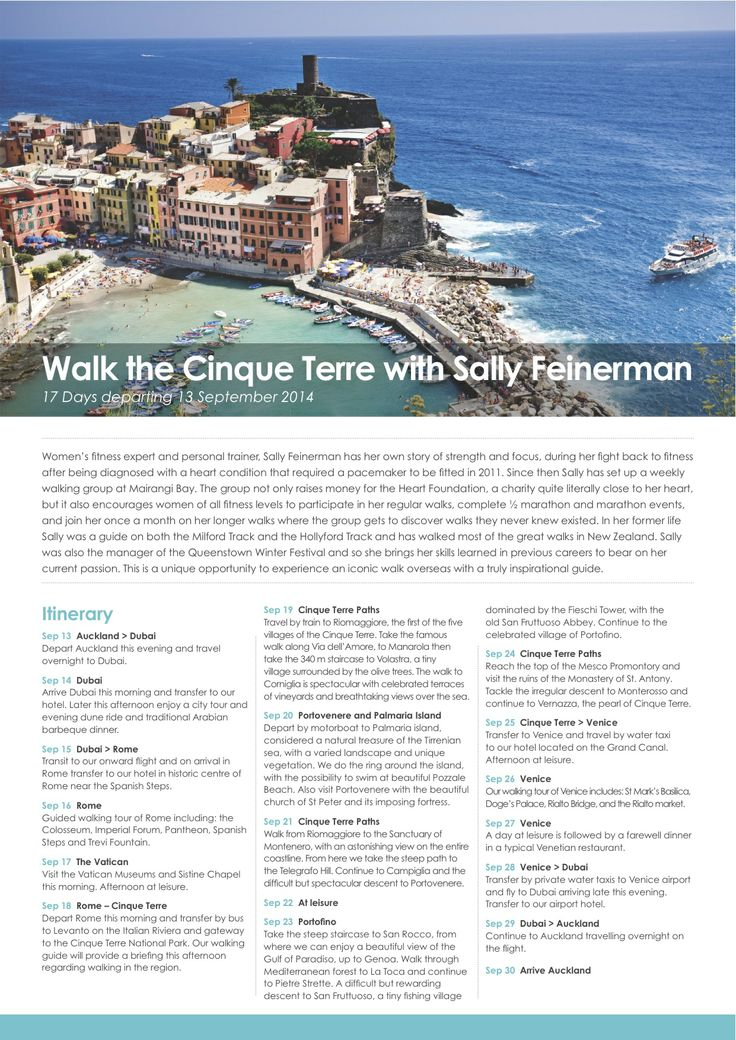 Do you fancy walking in Italy this year? Come and join my group to the Cinque Terre departing 13th September.