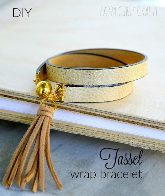 DIY Tassel wrap bracelet